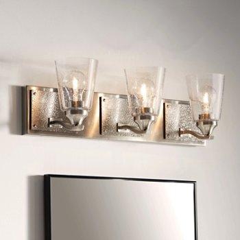 Jackson 3-Light Bath Light, in use