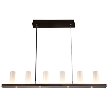 Shown in Oil Rubbed Bronze finish, Frosted Seeded shade
