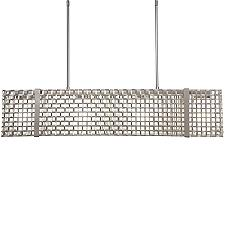 Tweed Linear Chandelier Light