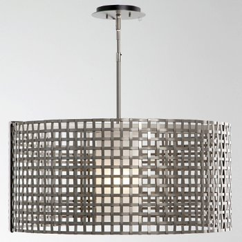 Shown in Metallic Beige Silver finish, Frosted Glass color