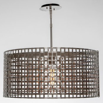 Shown in Metallic Beige Silver finish, None Exposed Lamping