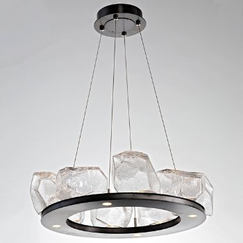 Shown in Clear, Gunmetal finish, 8 Light