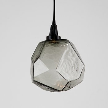 Shown in Matte Black finish, Frosted Glass shade