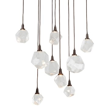 Gem square led multi light pendant by hammerton studio at lumens gem square led multi light pendant aloadofball Images