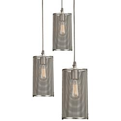Uptown Mesh Round Multi-Light Pendant