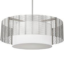 Downtown Mesh Drum Chandelier with Shade