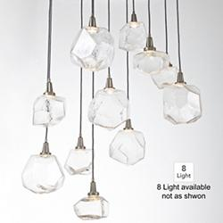 Gem Round Multi-Light Pendant (Clear/Silver/8) - OPEN BOX