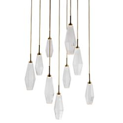 Aalto Square Waterfall Multi-Light Pendant