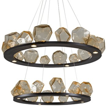 Gem Bezel Ring 2-Tier Chandelier