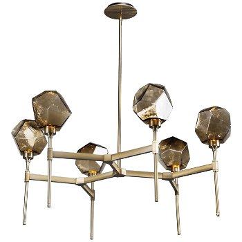 Shown in Bronze Glass, Heritage Brass finish