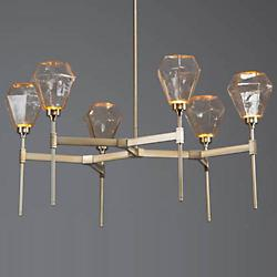 Hedra Round LED Belvedere Chandelier