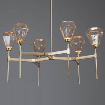 Hedra Round LED Belvedere Chandelier by Hammerton Studio