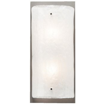Shown in Metallic Beige Silver finish, Frosted Granite Glass, 14 inch