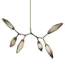 Rock Crystal Modern Branch LED Chandelier