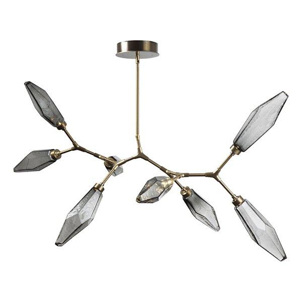 Rock Crystal Modern Branch LED Chandelier
