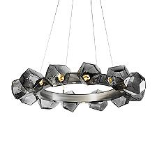 Gem Radial Ring LED Chandelier
