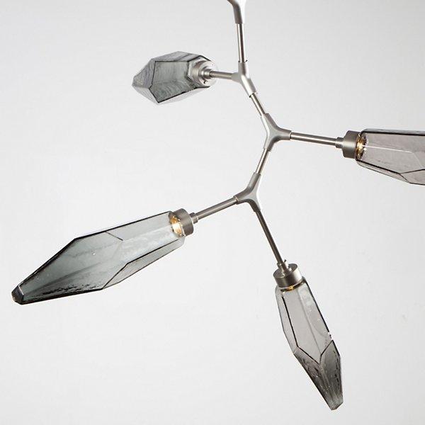 Rock Crystal Modern Vine LED Chandelier