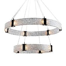Two Tier Parallel Ring LED Chandelier