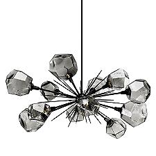 Gem Oval Starburst LED Chandelier