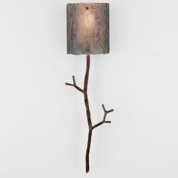 Ironwood Twig Glass Wall Sconce