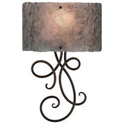 Script Royal Glass Wall Sconce