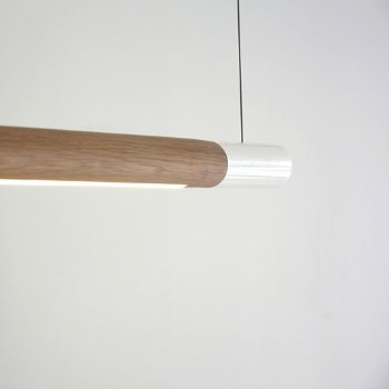 Shown in White with W Oak Pure finish, Detail shot