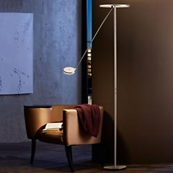Plano LED Torchiere with Reading Arm