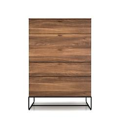 Linea 5 Drawer Chest with Steel Base