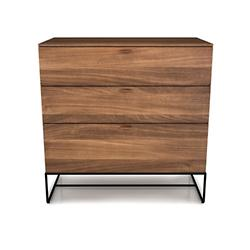 Linea 3 Drawer Chest with Steel Base