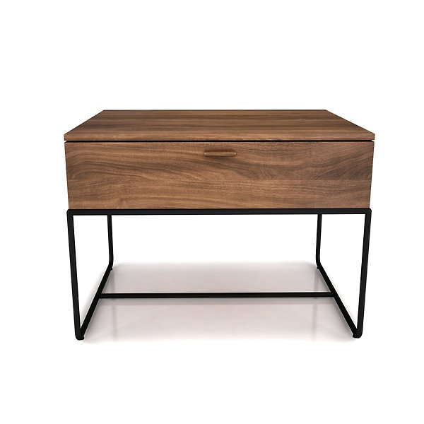 Linea 1 Drawer Night Stand with Steel Base
