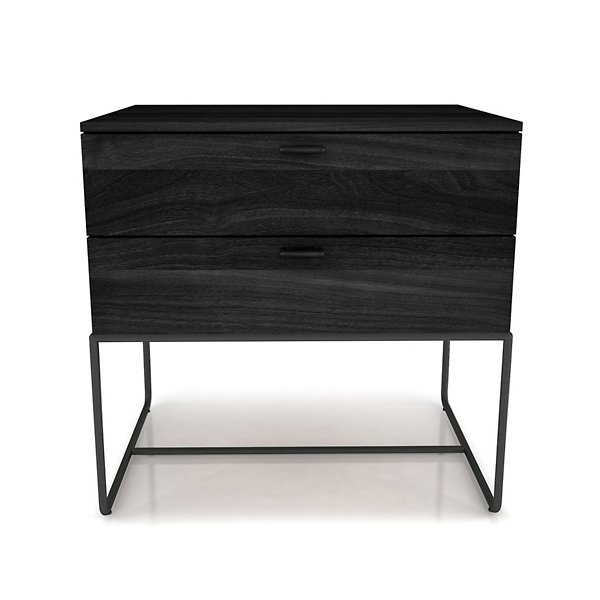 Linea 2 Drawer Night Stand with Steel Base