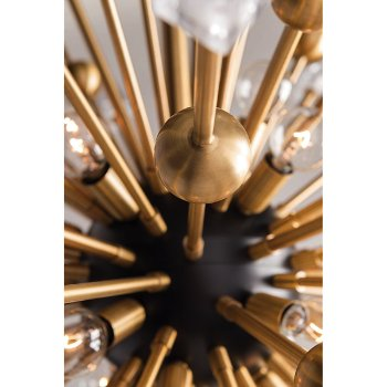 Shown in Aged Brass finish, Detail shot