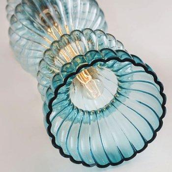 Shown in Blue glass, Detail shot