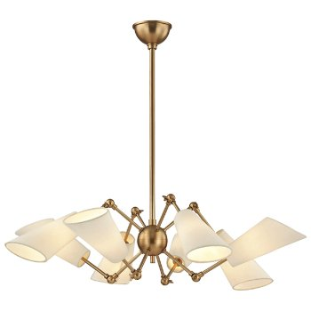 Shown in Aged Brass finish, 8 Light