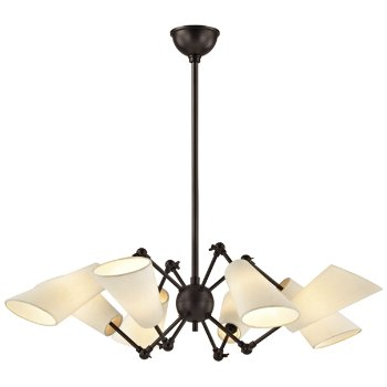 Shown in Old Bronze finish, 8 Light