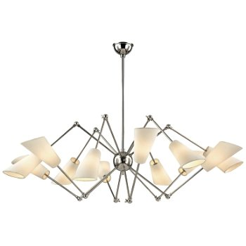 Shown in Polished Nickel finish, 12 Light