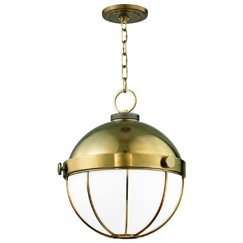 Shown in Aged Brass finish, Large size