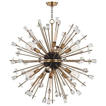 Shown in Aged Brass finish, 12 Light