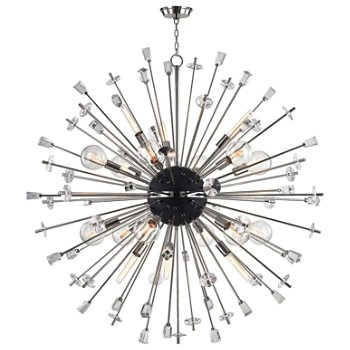 Shown in Polished Nickel finish, 18 Light