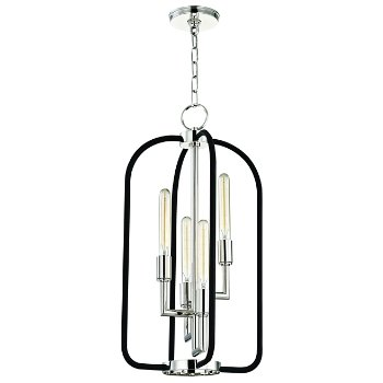 Shown in Polished Nickel finish, 4 Light