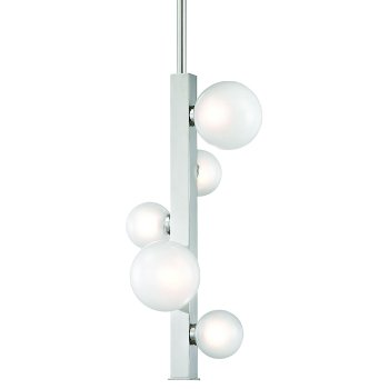 Shown in Polished Nickel finish, 5 Light