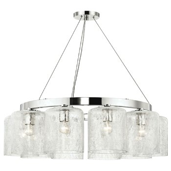 Shown in Polished Nickel finish, 10 Light