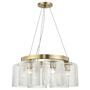 Shown in Aged Brass finish, 6 Light