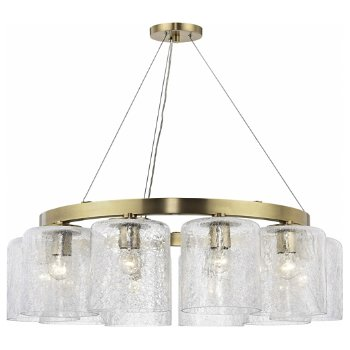 Shown in Aged Brass finish, 10 Light