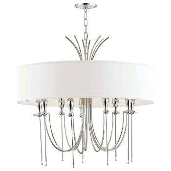 Shown in Polished Nickel finish, 9 Light