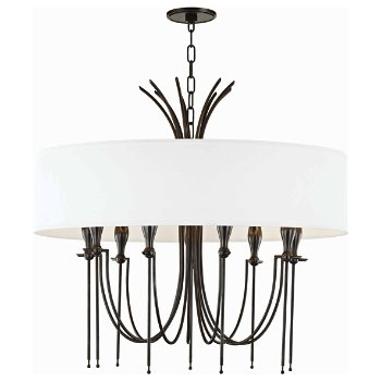 Shown in Old Bronze finish, 9 Light