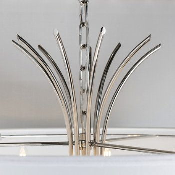 Shown in Polished Nickel finish, Detail shot