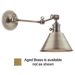 Garden City Double-Arm Wall Sconce (Brass/Small) - OPEN BOX