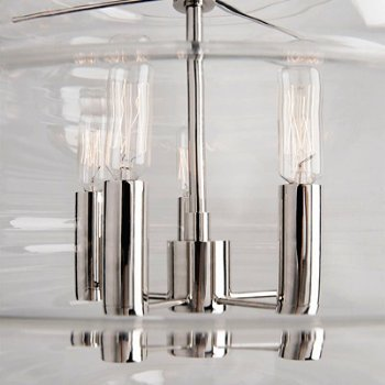 Shown in Polished Nickel finish, Large size, Detail view