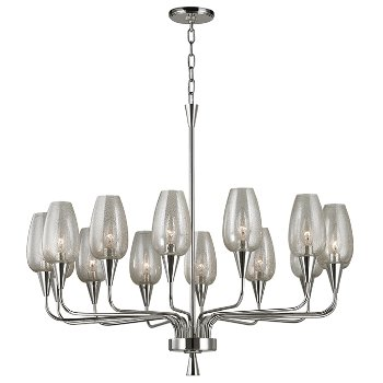 Shown in Polished Nickel finish,  14 Lights